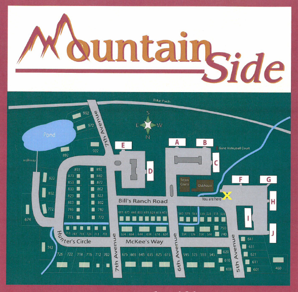 Map of Mountain Side HOA